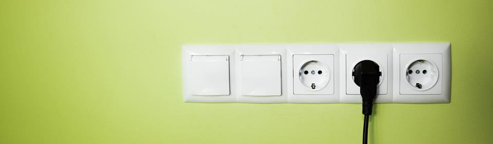 Stekkers in stopcontact